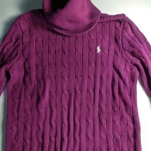 Ralph Lauren Sport purple turtleneck size S